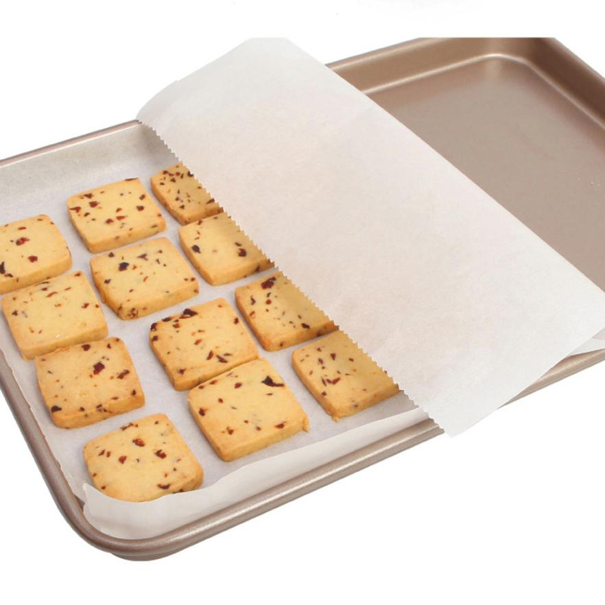 30*500CM Silicone Greaseproof Baking Mat Oven Bake Coated Parchment Paper Oil Absorbing Sheet BBQ Cake Biscuit Cookie Oil Papers