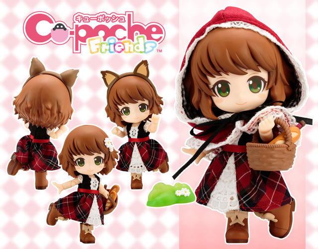 Nendoroid Cute Little Red Riding Hood Variant Mini Action Figure Real Clothes Ver. PVC figure Toy Brinquedos Anime 10CM 1