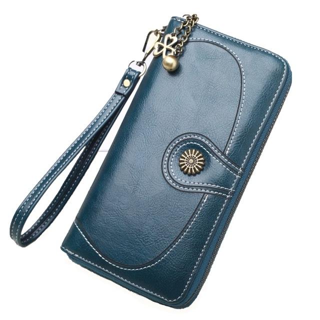 Vintage Long Wallet/Clutch – Caramel