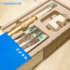 Image 4 - LANSUNG cepillo de dientes eléctrico recargable A39 PLUS, 8 cabezales de repuesto, ULTRASÓNICO, para adultos y niños