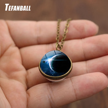 Car Decoration Accessories Gifts Solar System Earth Double-Sided Glass Starry Ornaments Exquisite Fantasy starry sky 16mm