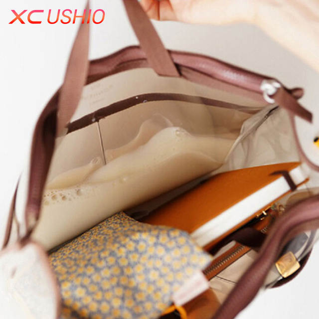 placeholder Portable Transparent PVC Travel Storage Bag Small Handbag  Waterproof Cosmetic Bags Cases Travel Toiletry Bag Organizer ae558e371f