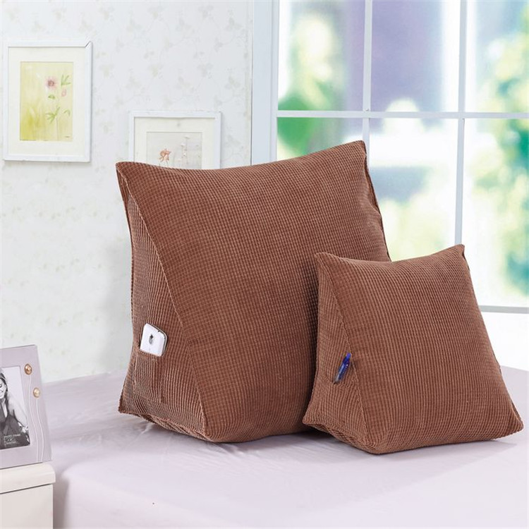 back rest cushions for watching tv new triangular bed pillows lumbar Back Support Cushion Pillow with