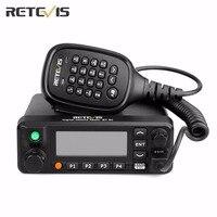 50W Mobile Car Radio Retevis RT90 GPS DMR Dual Band Standby Digital VHF UHF 136 174