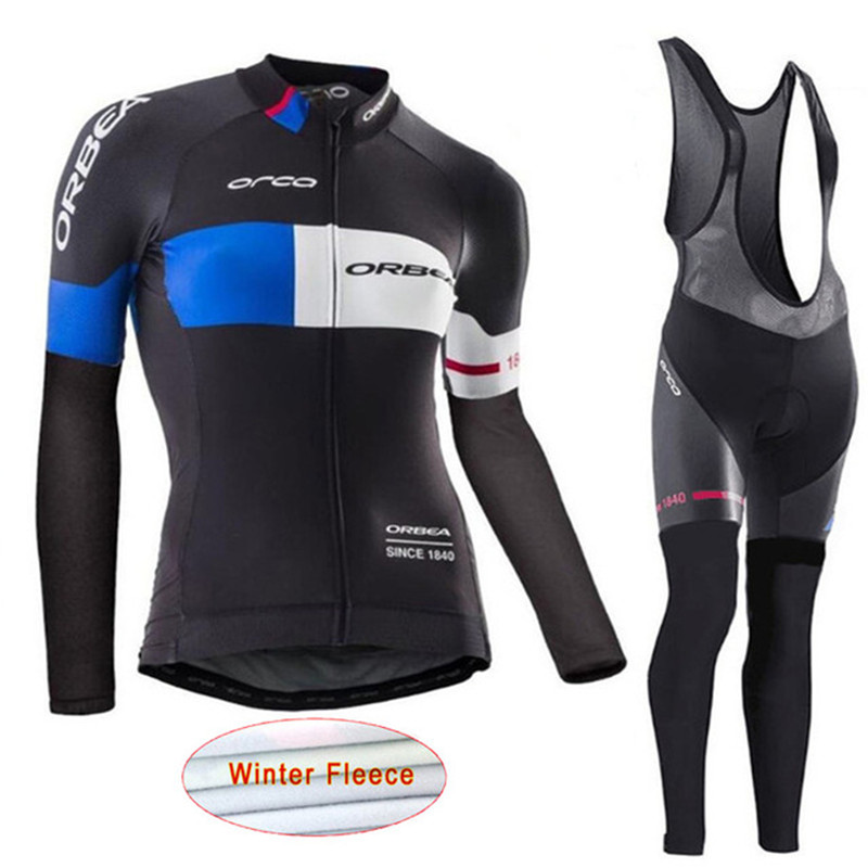 2018 Orbea Pro Team Winter Thermal Fleece Women Cycling Jersey bicycle Long Sleeve Clothing suit Bike Wear Ropa Ciclismo K3 men thermal long sleeve cycling sets cycling jackets outdoor warm sport bicycle bike jersey clothes ropa ciclismo 4 size