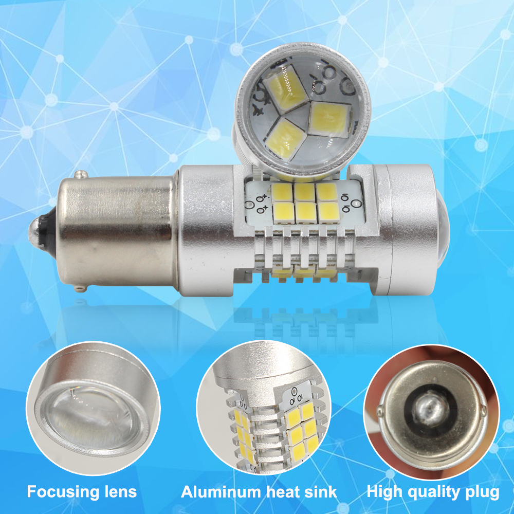 6000k White 1156 Led Canbus No Error P21w Bulb For Skoda 2x 7506 Ba15s 7527 Light Wire Wiring Harness Socket Superb Octavia 2 Fl 2011 2012 2013 Daytime Running Lights Drl In Signal Lamp From