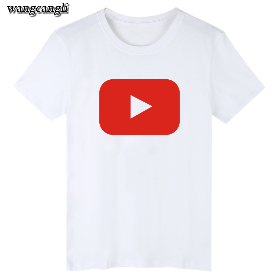 17 best friends t shirt harajuku Youtube Logo Printed tshirts cotton women with 4XL You Tube T-shirts for women Tee Shirt 4