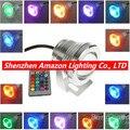 10 шт./лот светодиодный подводный свет RGB 10 Вт 12 В светодиодный подводный свет 16 видов цветов 1000ЛМ водонепроницаемый IP68 фонтан бассейн лампа о...