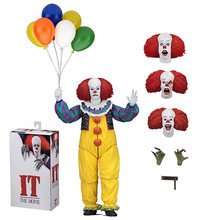 NECA É o filme do Stephen King é Coringa 1990 Palhaço Pennywise Action Figure Model Collection Toy Halloween Decorações Presentes(China)