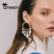 Hot Trendy earrings for women pearl earrings Irregular Geometric Natural Pearl For Women Fashion Brincos drop earrings jewelry