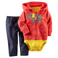 Baby Girl Clothing Sets  Baby Three Pieces Hand-Painted Infant  Suit 3 6 9 24  Month Girl Clothes Cute Jacket + romper + pants