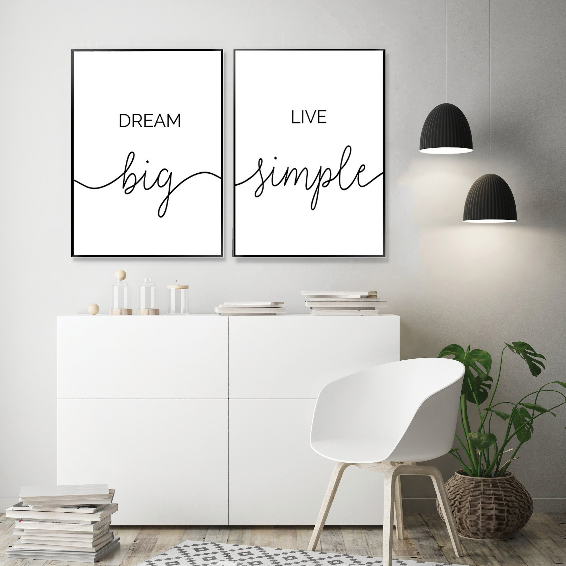 Dreams Motivational Inspirational Positive Thoughts Quote Poster Print Wall 64