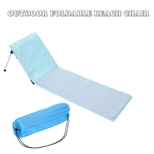 높은 품질 야외 Foldable 비치의 자 휴대용 여름 휴가 통풍 태양 Lounger 홈 야외 가든의 자 침대