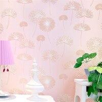 Non Woven Wallpaper Warm Rural Dandelion Wallpaper Living Room Bedroom Wallpaper TV Background