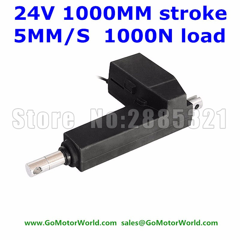 24V 5MM/S 1000mm 40 inch stroke 1000N 100KG load electric linear actuator free shipping24V 5MM/S 1000mm 40 inch stroke 1000N 100KG load electric linear actuator free shipping