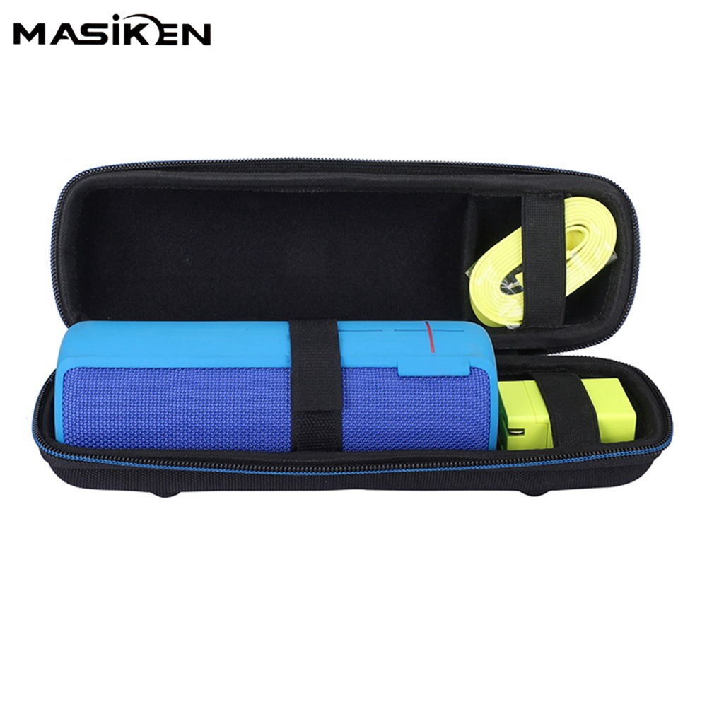 MASiKEN Portable Travel Carry Storage hard Case for Logitech UE BOOM 2 /1 Bluetooth Speaker and Charger Bag Holder Zipper Pouch