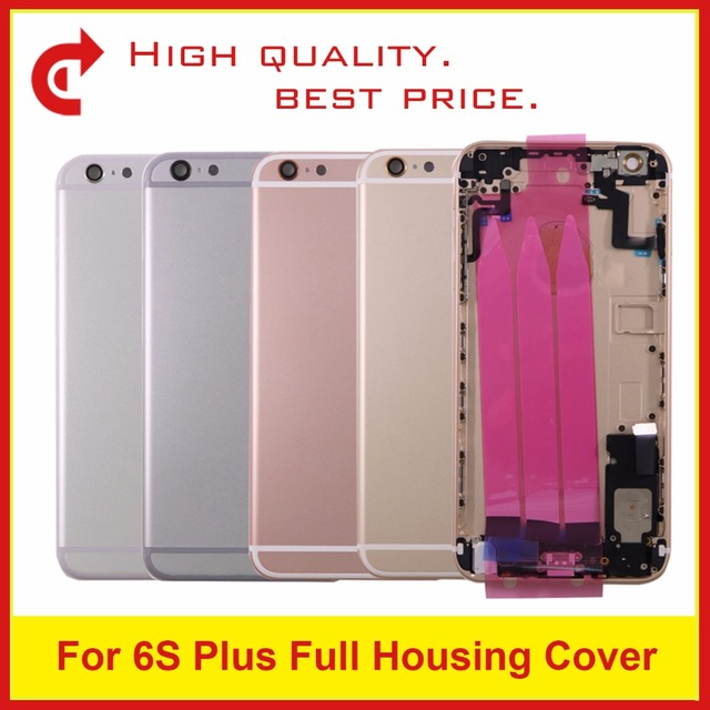 best sneakers d7271 f203f US $18.0 |Replacement For IPhone 6S and For 6S Plus Middle Frame Bezel  Chassis Back Full Housing Battery Door Rear Cover Body With Flex-in Mobile  ...
