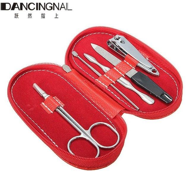 5pcs Nail Clipper Kit Nails Scissor Tweezer Dig Ear Spoon File