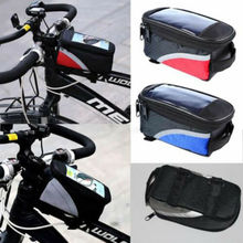UK Bicycle Mountain Bike Front Frame Pannier Tube Bag Case Pouch For Cell Phone