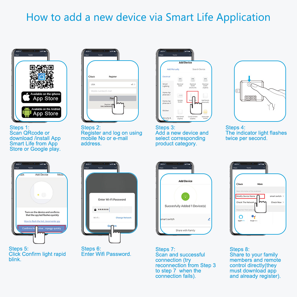 how to add smart module in smart life app