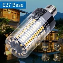 E27 светодиодный кукурузная лампа светильник 220V Светодиодный лампа E14 110V 5736 AC85-265V светодиодный энергосберегающий светильник s 3,5 Вт, 5 Вт, 7 Вт, 9 Вт, 12 Вт, 15 Вт, 20 Вт, без мерцания