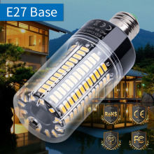 Купить с кэшбэком E27 LED Corn Bulb Light 220V LED Lamp Bulb E14 110V 5736 AC85-265V Led Energy saving lights 3.5W 5W 7W 9W 12W 15W 20W No Flicker