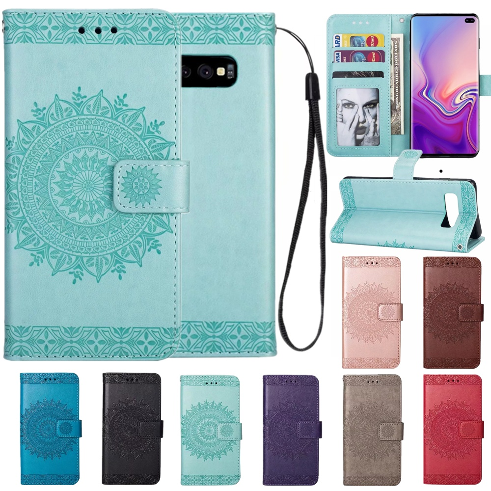 PU Leather <font><b>case</b></font> for <font><b>Samsung</b></font> Galaxy S10 Lite S10 plus <font><b>S9</b></font> S8 S7 edge S6 Cover <font><b>Flip</b></font> Wallet For J3 J5 J7 J4 J6 A5 A6 A7 2018 Coque image