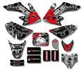 New Style TEAM  GRAPHICS&BACKGROUNDS DECAL STICKERS Kits For Honda CRF50 STYLE Pit Dirt bike(Black/White)