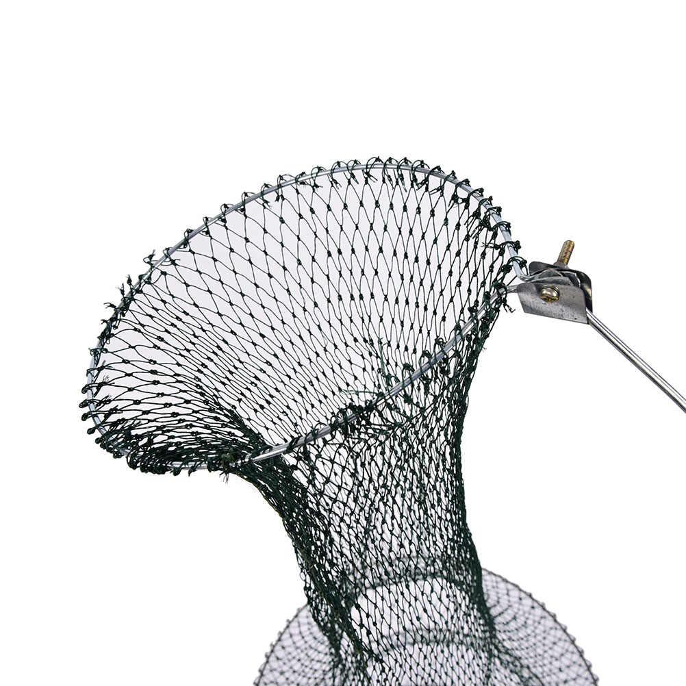 Dobrável redonda armação de metal malha de náilon caranguejo crawdad camarão minnow isca armadilha cast peixe net pesca desembarque equipamento acessório ferramenta