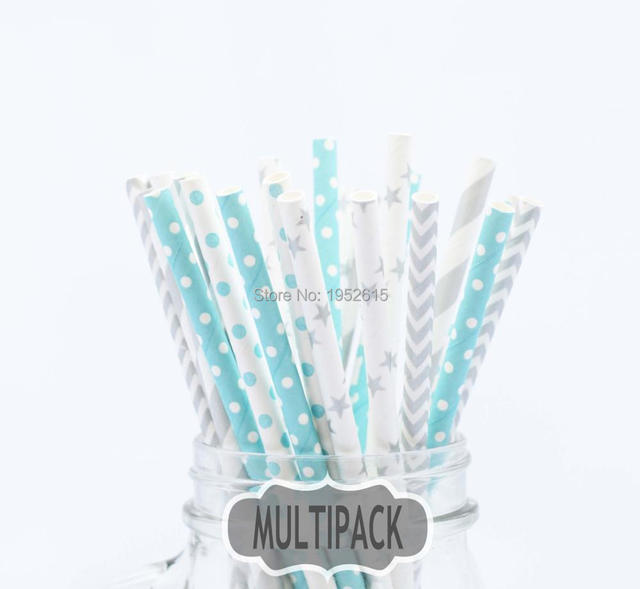 New Hot 25pcs(5styles)Paper Straws For Kids Birthday Wedding Decoration Event Party Supplies Creative Mixed Colors Free Shipping 1