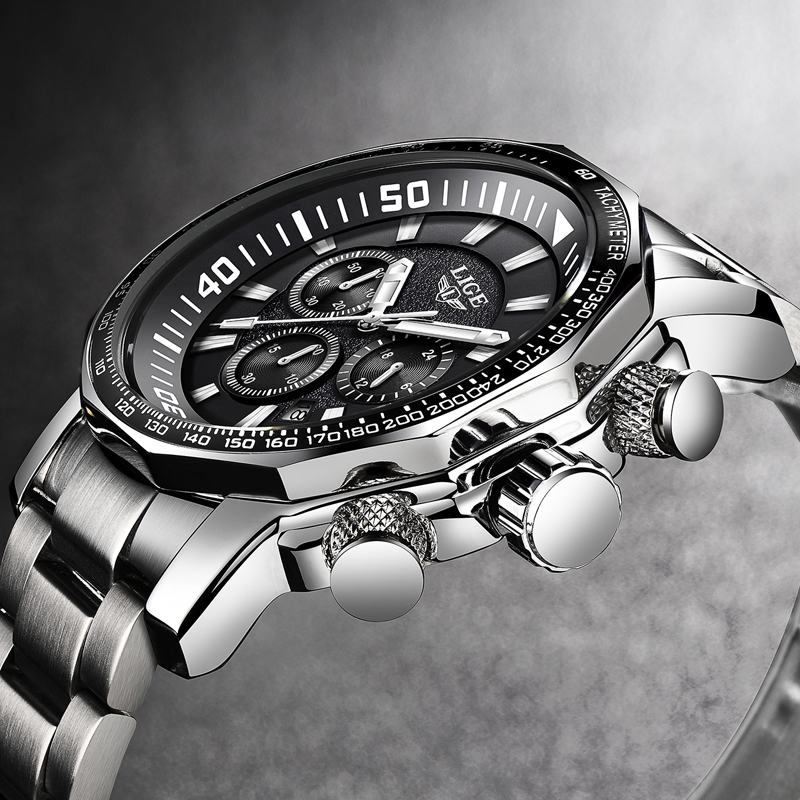 2019 LIGE Mens Watches Top Brand Luxury Fashion Quartz Clock Mens All Steel Waterproof Sport Military Watch Relogio Masculino2019 LIGE Mens Watches Top Brand Luxury Fashion Quartz Clock Mens All Steel Waterproof Sport Military Watch Relogio Masculino