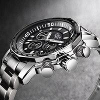 2019 LIGE Mens Watches Top Brand Luxury Fashion Quartz Clock Men's All Steel Waterproof Sport Military Watch Relogio Masculino
