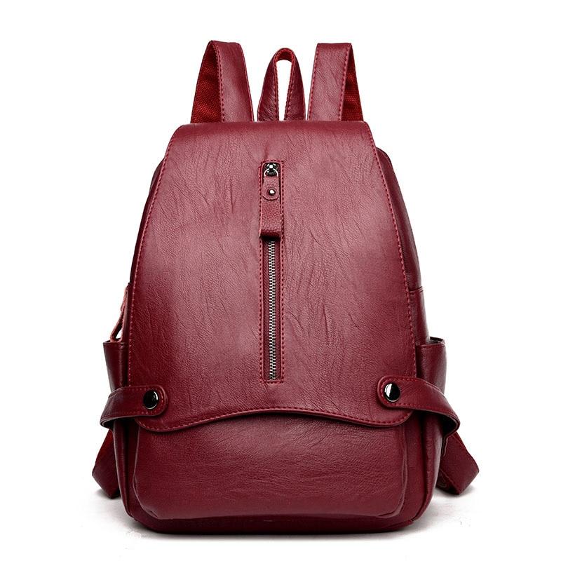 2017 High Quality PU Leather Women Backpacks For Girls Soft Shoulder Bags Fashion School Backpacks Female