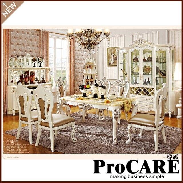 Nuovo classica sala da pranzo mobili in legno che intaglia dinning ...