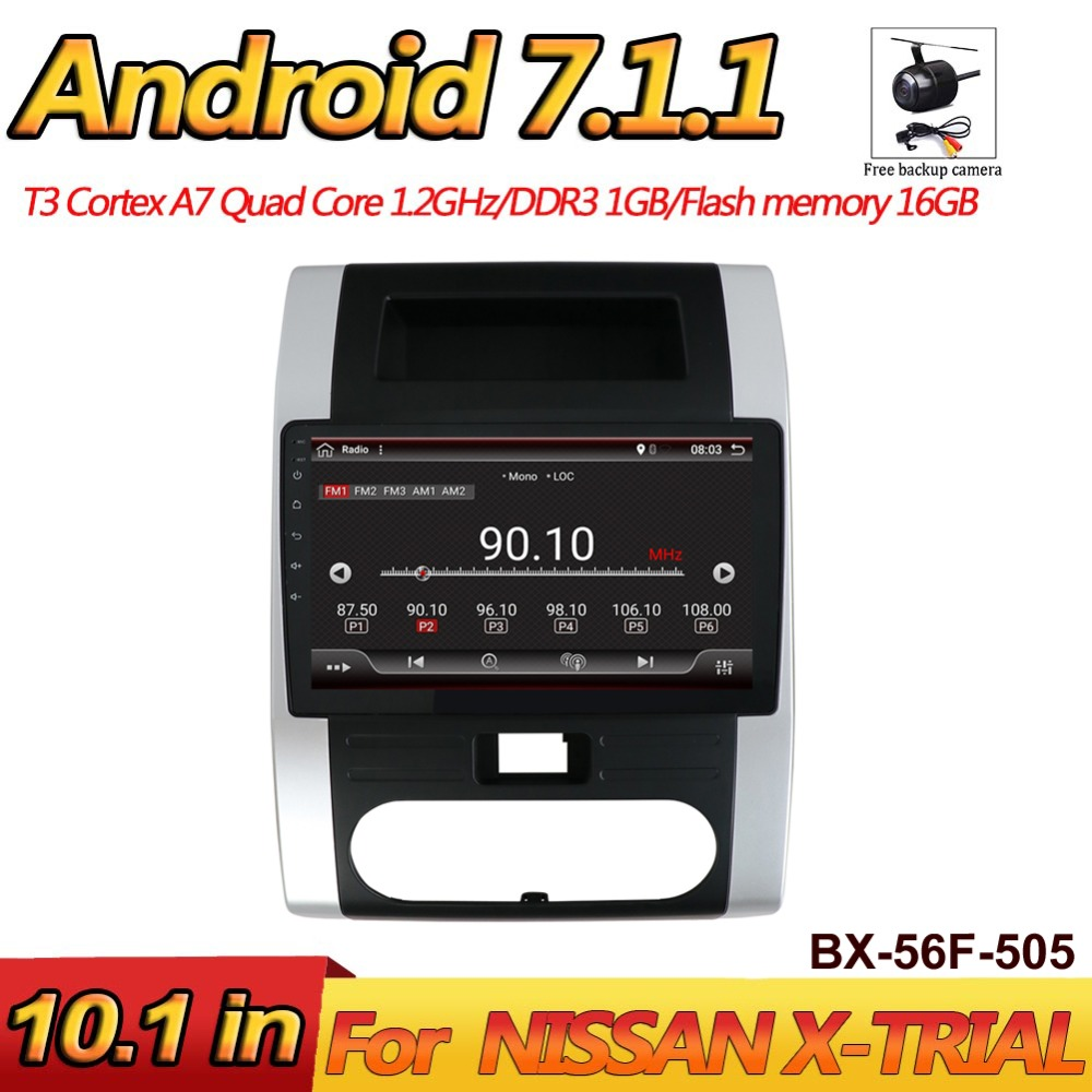 Bosion Android 7.1 2 Din autoradio lecteur vidéo multimédia auto stéréo GPS carte pour Nissan X-TRIAL 2008-2012 avec caméra gratuite