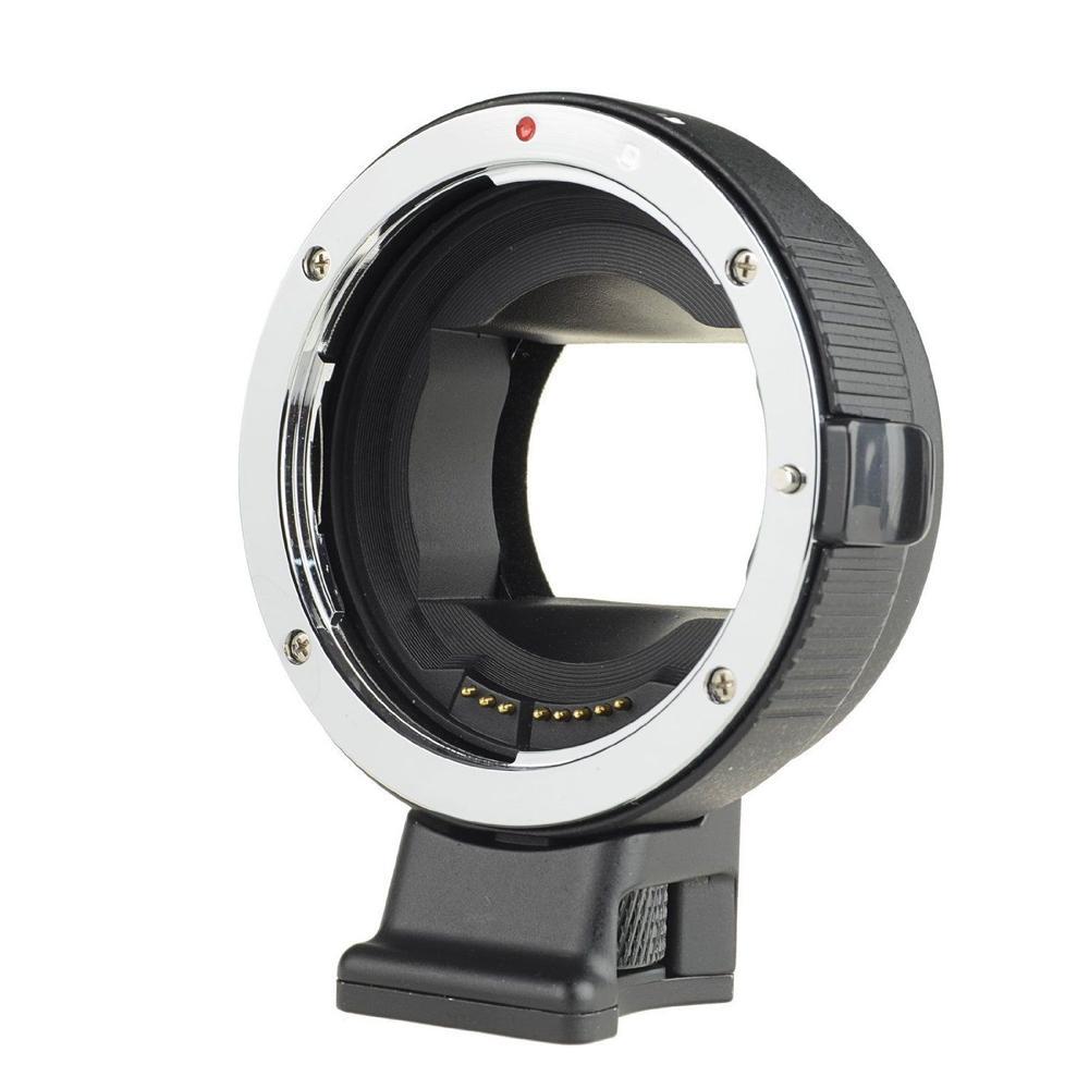 COMMLITE Mise Au Point Automatique EF Lens Adapter Anneau Anti-Shake pour Canon EF-S Objectif à utiliser pour Sony NEX E Mont Caméra Plein Cadre NEX 5 A7