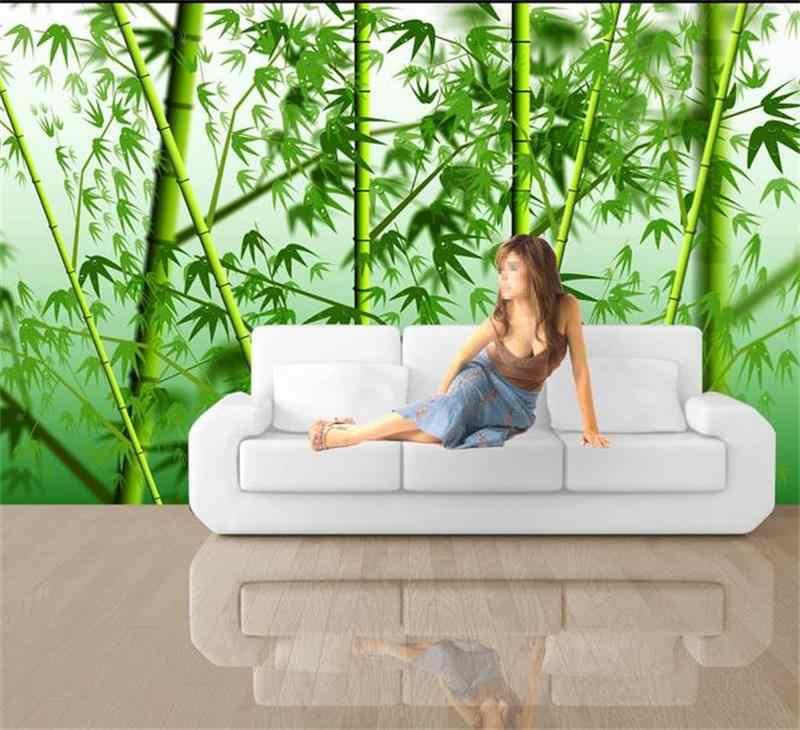 3d комната обои на заказ Фреска нетканый стикер стены 3d картины на бамбуке Диван ТВ фон, настенная фотография обои для стен 3d