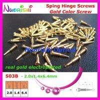 10000pcs Gold or Silver Glasses Eyewear Eyeglasses Spectacle Spring Hinge Screws S03 Free Shipping