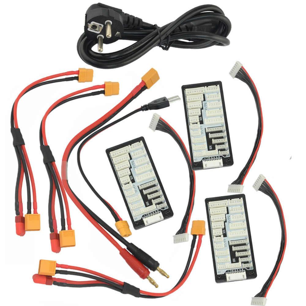 "Htrc HT206 AC/DC Tri 200W * 3 20A * 3 Triple Port RC Balance Charger untuk Lilon/Lipo/Hidup/Lihv Baterai 4.3 ""LCD Warna Layar Sentuh"