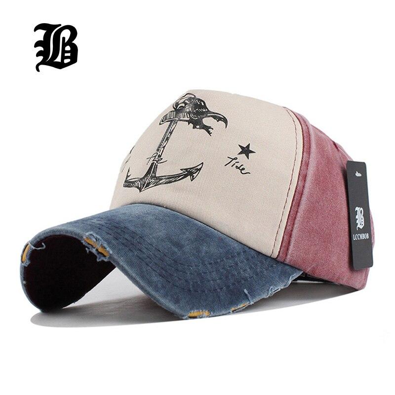 [FLB] 5 hip hop snapback sombreros parejas sombrero hombre mujer de algodón puro gorras de béisbol, ¿viejo pirata ancla de barco gorras lavado cap