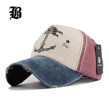 [Flb] 5 painel hip hop snapback chapéus casais chapéu homem mulher puro algodão bonés de beisebol fazer velho navio pirata âncora gorras lavagem boné