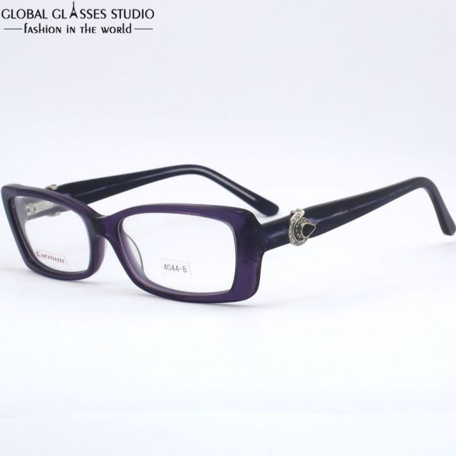 79dbc7da6380 Last New Design Demi Purpul Color Fashion Classic Female Eyewear Glasses  Optical Eyeglasses Frame 4044-B
