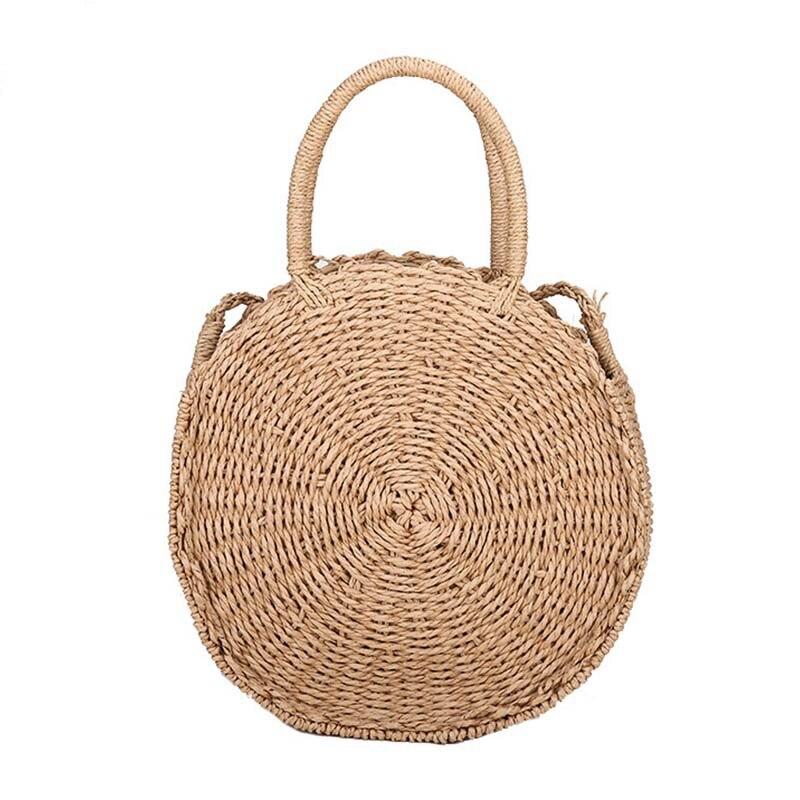 2018 Women Straw Bag Bohemian Bali Round Rattan Beach Handbag Small Circle Lady Vintage Crossbody Handmade