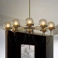 Modern Magic Bean Molecule Pendant Light Glass Ball Hanging lamp For Parlor Study hotel Lighting Suspension Art Fixture PA0223