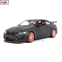 Maisto 1:24 BMW M4 GTS series Simulation alloy super toy car model For  with Steering wheel control front wheel steering toy car цена 2017