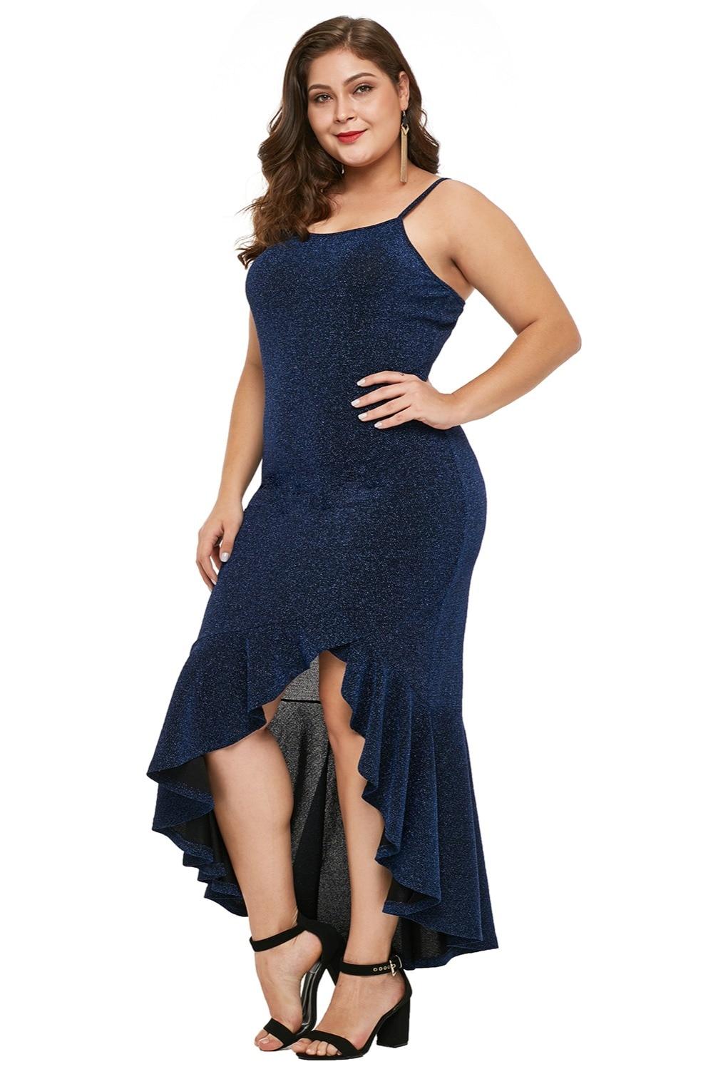 Navy-Blue-True-Shine-Plus-Size-High-low-Dress-LC610939-5-3