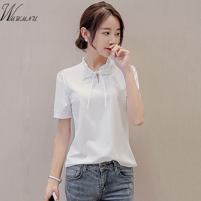 Summer Elegant Cute Long Sleeve Blouses Women 2018 New Ol Career Chiffon Casual Shirts Tops Office