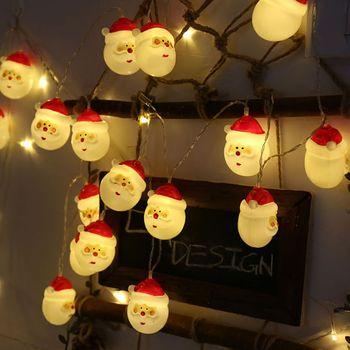 98c0aa1e18a Árbol de Navidad LED de la batería operar luz cadena Feliz Navidad Papá  Noel muñeco de