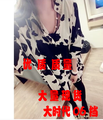 New Loose Wind Ir Design Feel Cow Grain Big Edition 7033 Shirts Blouse Shirt Black 907