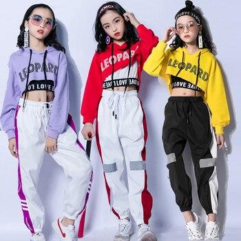 55e5909696341 Los niños Tops chaleco pantalones 3 piezas Hip Hop ropa de baile de Jazz  las niñas traje de baile de salón de baile
